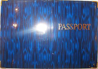 Глянцевая обложка на загранпаспорт цвет синий