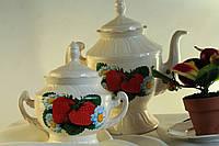 Чайный набор Клубничка с ромашками