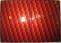 Глянцевая обложка на загранпаспорт цвет красный