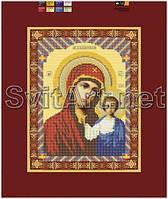 Схемы для вышивки бисером на холсте Икона Казанская