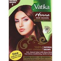 Краска для волос на основе хны Vatika Natural Brown (Коричневая) Дабур, 60 г