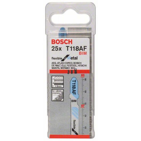 Пилки лобзиковые Bosch 25 шт T 118 AF, BIM