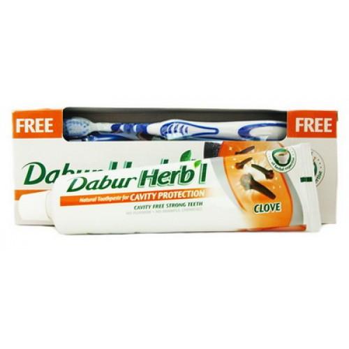 Зубная паста Dabur Herb'l Clove Гвоздика 150 г + зубная щётка в подарок!