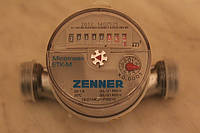 """Счетчик для воды 1/2"""" ZENNER (Germany) Горячая, 80мм"""