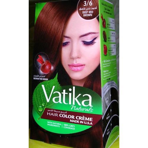 Краска для волос Красно-коричневый №3/6 Vatika Naturals,100 мл, Дабур
