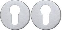 Розетка Convex 50 PZ матовый хром