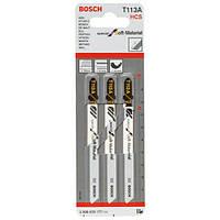 Пилки лобзиковые Bosch 3 шт T 113 А, HCS