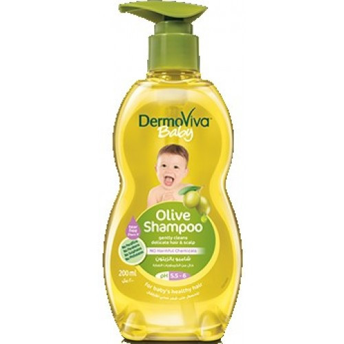 Детский шампунь с оливковым маслом Dermoviva 200 мл