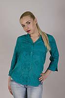 Модная женская блуза в бирюзовом цвете