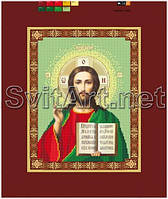 Схемы для вышивки бисером на холсте Икона Спасителя