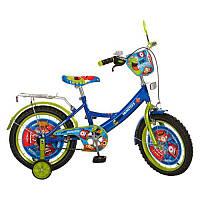 Велосипед 16'' Profi MONSTERS (PM 1644) синьо-зелений