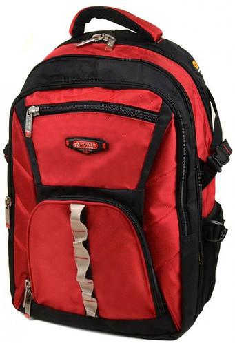 Яркий городской рюкзак из нейлона 43 л. Power In Eavas 9716 red, красный