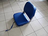 Сиденье складное мягкое для установки на стойку или поворотный элемент, синее в катер