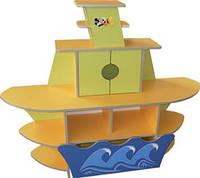 Стеночка уголок детская Кораблик