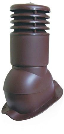 Вентиляционный выход утепленный с колпаком Kronoplast KBNO 150мм для металлочерепицы низкая волна до 24 мм. красный - Оксамит Винница в Виннице