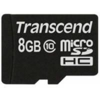 Карта памяти Transcend Micro SDHC 8Gb class 10 USB