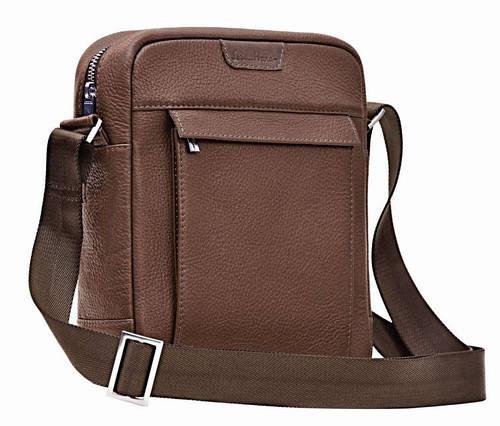 Сумка-планшет кожаная мужская ISSA HARA B4-05 (12-00) коричневый