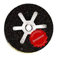 Абразивная низко оборотистая шарошка Krzemex Ф100*50*М14 №30/40 бочка для шлифовки гранита и мрамора.