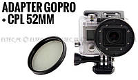 Адаптер фильтровой для GoPro HERO 3 + фильтр CPL 52мм (GP150A+CPL) brak