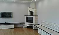 Мебель для гостиной, камин, решетка на батарею