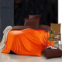 Евро комплект постельного белья Orange-marsala