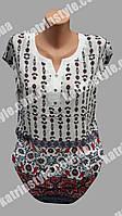 Легкая женская летняя блуза с оригинальным вырезом