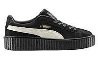 """Женские Криперы Puma Rihanna Creepers """"Black White"""" -  """"Черные Белые"""" (Копия ААА+), фото 1"""