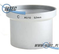Бленда для CANON A510 A520 A540 52мм (серебряная) Selco