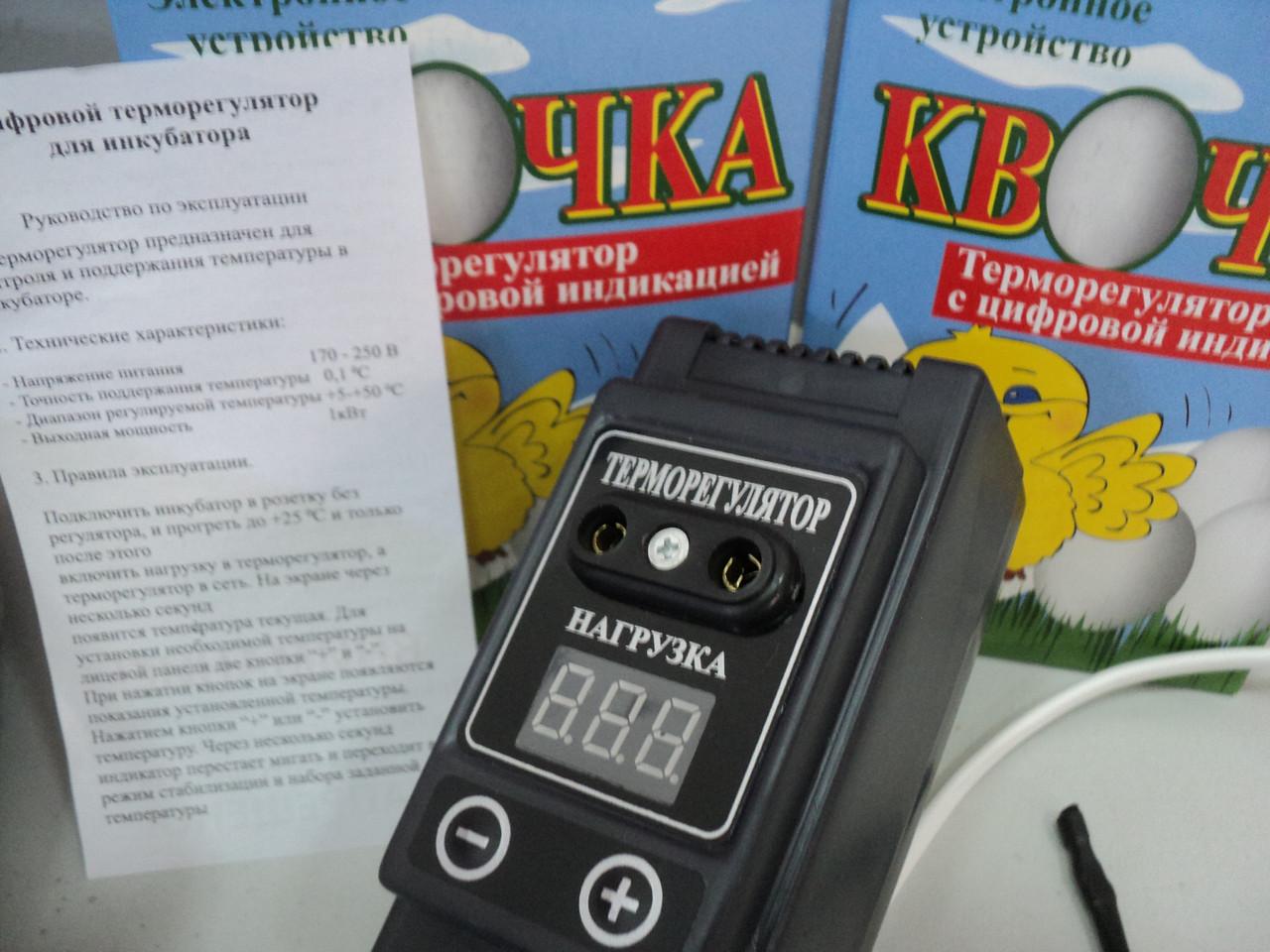 Цифровий терморегулятор для інкубатора Квочка