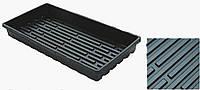 Прямоугольный поддон под кассету Agreen с желобками и высоким бортом, виниловый, размер 280х540 мм