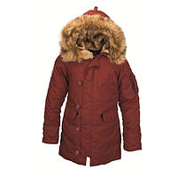 Женская зимняя куртка аляска Altitude W Parka Alpha Industries  (красная охра)