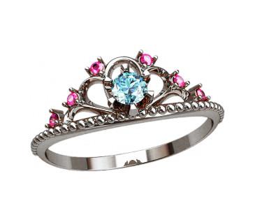 Кольцо  женское серебряное Корона 20867