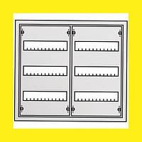 Распределительный навесной металлический шкаф ABB AT32 72M IP43 574х524х140 3 ряда