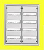 Распределительный навесной металлический шкаф ABB AT42 96M IP43 574х674х140 4 ряда