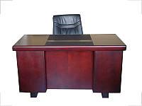 Стол руководителя с кожаной накладкой YDK607