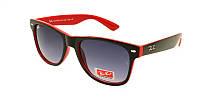 Ободковые солнцезащитные очки Ray Ban красный с черным