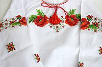 Вышиванка для девочки Яркие маки, фото 1