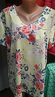 Красивая летняя блуза с коротким рукавом