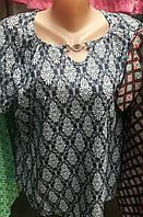 Блуза качественного пошива с украшением