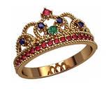 Кольцо  женское серебряное Корона 20874, фото 2