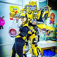 Карнавальнй костюм ТРАНСФОРМЕР Бамблби (Bumblebee). Костюмы для аниматоров. Купить ростовые куклы-трансформеры