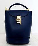 Стильная женская сумка - рюкзак 100% натуральная кожа. Черная, фото 2