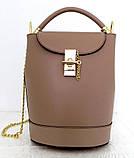Стильная женская сумка - рюкзак 100% натуральная кожа. Черная, фото 3
