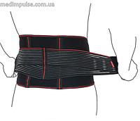 Пояс ортопедический аэропреновый с ребрами жесткости (арт. R3202) чёрный
