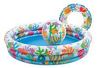 """Детский надувной бассейн """"Веселые рыбки"""" 59469"""