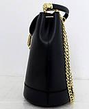 Стильная женская сумка - рюкзак 100% натуральная кожа. Черная, фото 4