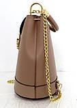 Стильная женская сумка - рюкзак 100% натуральная кожа. Бежевая, фото 2
