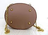 Стильная женская сумка - рюкзак 100% натуральная кожа. Бежевая, фото 4