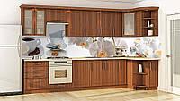 Стеклянный кухонный фартук для кухни. Безопасное стекло. Фотопечать на стекле. Орхидеи на стекле. Днепр
