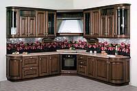 Стеклянный кухонный фартук с печатью Орхидеи. Скинали. Рабочая стенка из стекла. Под заказ. Днепр